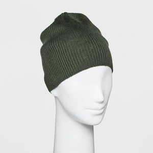 Single Layer Ribbed Beanie  Wild Fable Green Hat